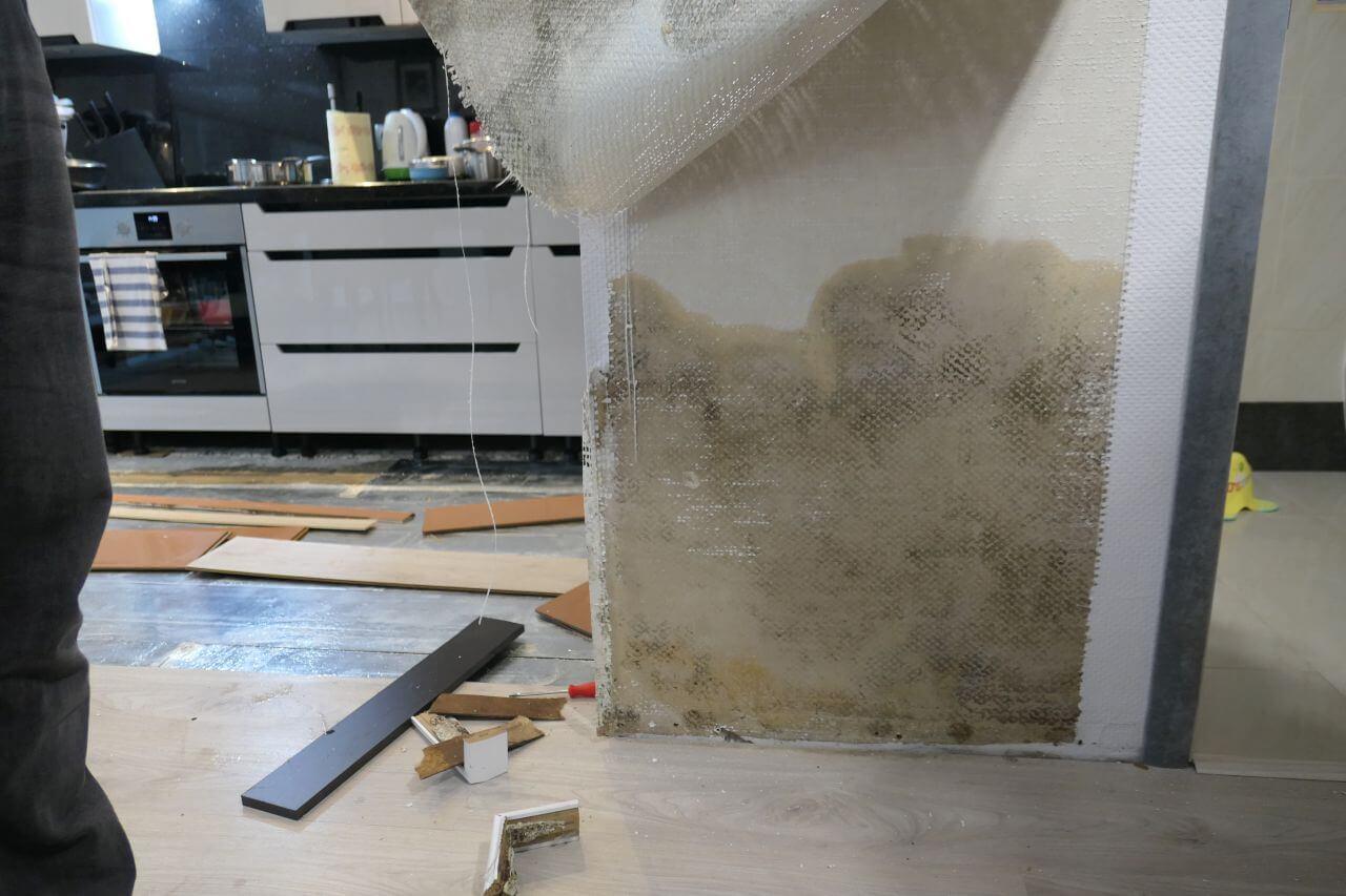 Sprzątanie mieszkania po zalaniu (awaria instalacji wodnej) - Katowice