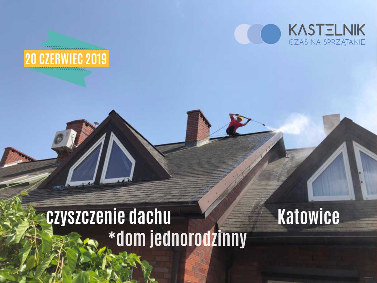 Czyszczenie dachu domu jednorodzinnego