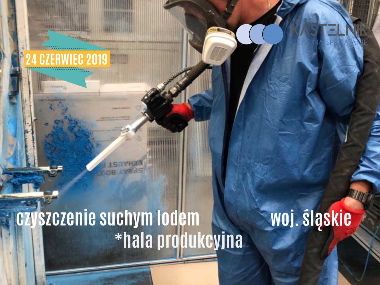 Czyszczenie suchym lodem hala produkcyjna
