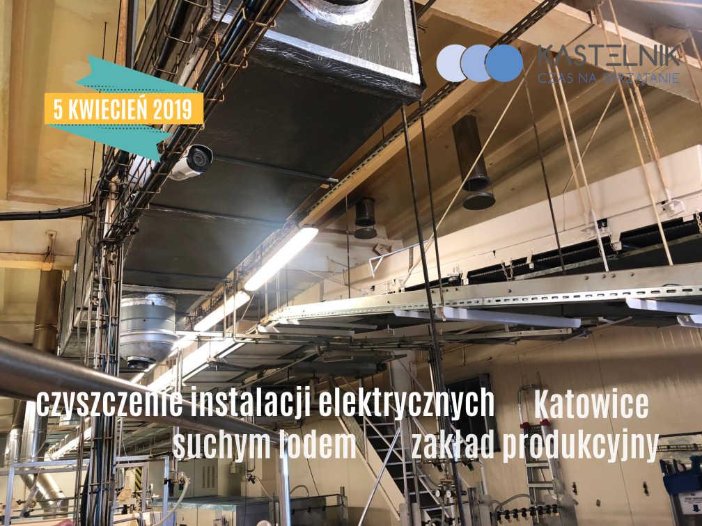 Czyszczenie instalacji elektrycznych suchym lodem