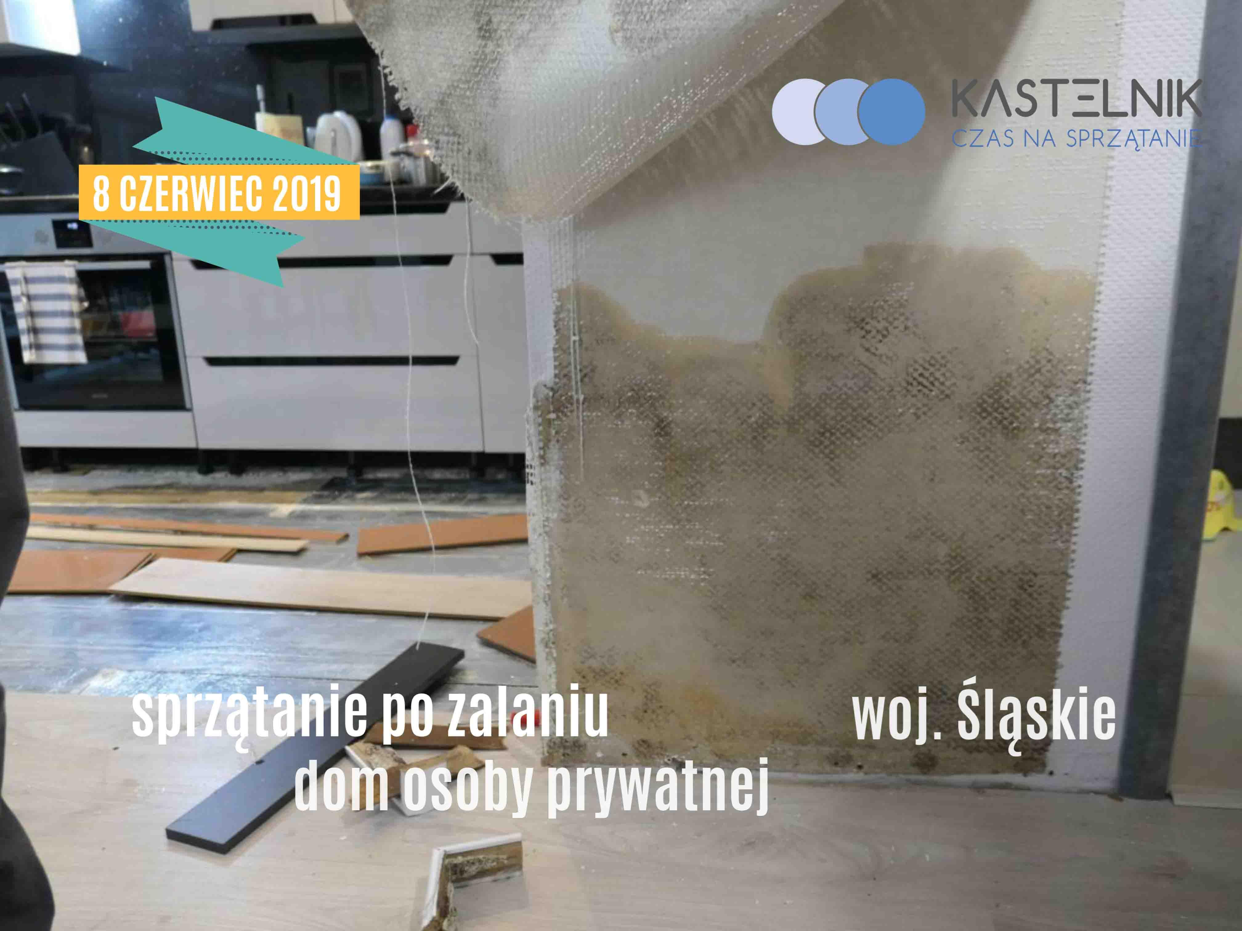 Sprzątanie mieszkania po zalaniu (awaria instalacji wodnej) Katowice