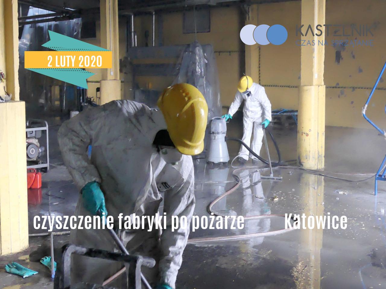 Jak wyglądało czyszczenie na fabryce po pożarze?