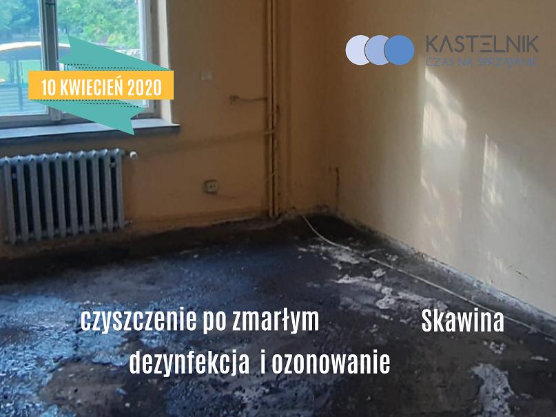 Czyszczenie lokalu mieszkalnego po zmarłym Skawina
