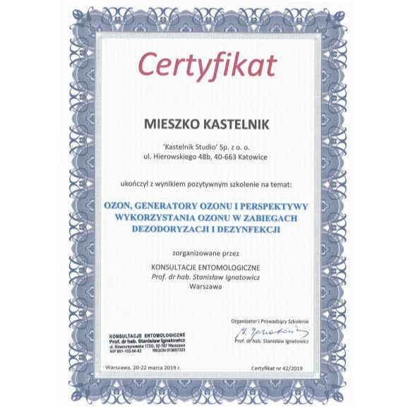 ozonowanie-pomieszczen-gliwice-certyfikat