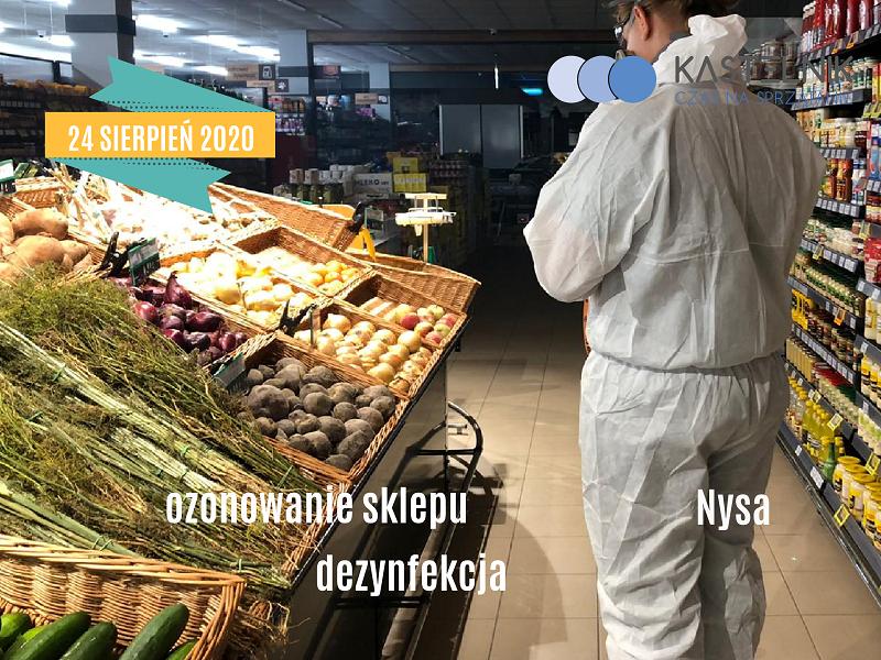 Ozonowanie i dezynfekcja sklepu w Nysie