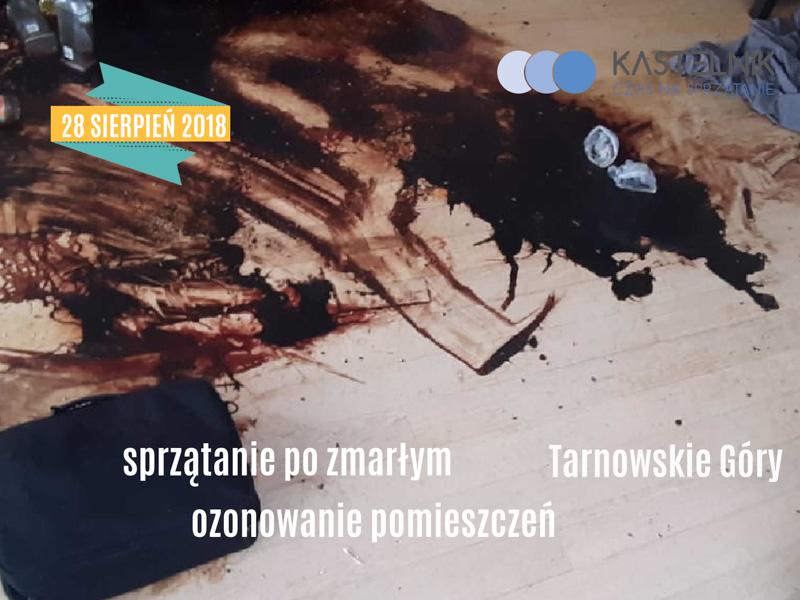 Dezynfekcja i sprzątanie po samobójczej śmierci młodego człowieka w Tarnowskich Górach
