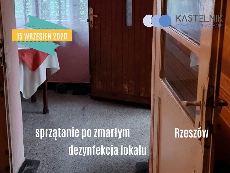 Sprzątanie po zmarłym w mieszkaniu na terenie Rzeszowa
