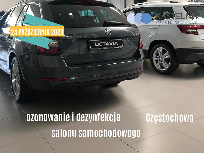 Ozonowanie salonu samochodowego Częstochowa