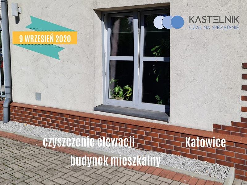 Czyszczenie elewacji budynku mieszkalnego w Katowicach