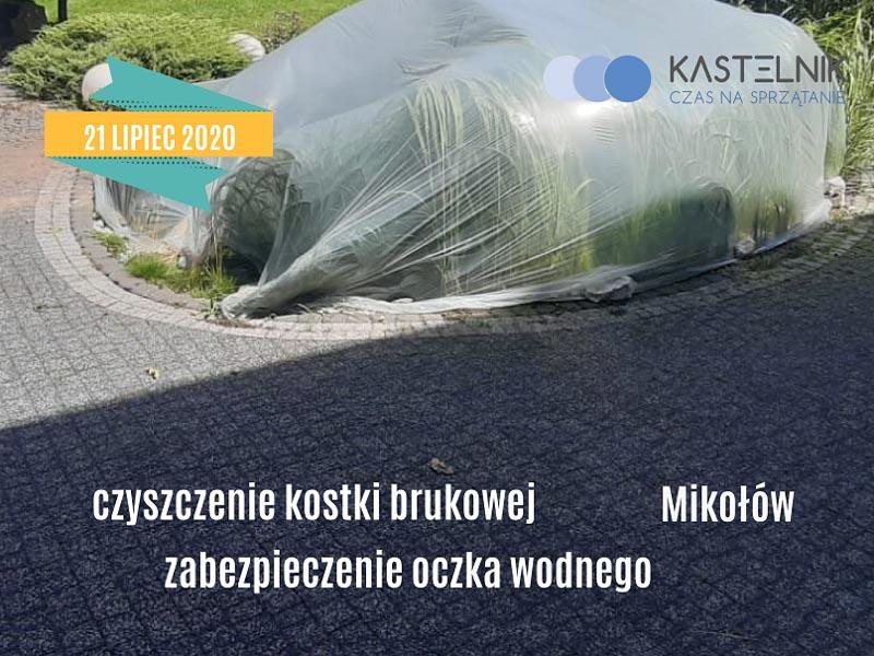 Czyszczenie kostki brukowej w Mikołowie