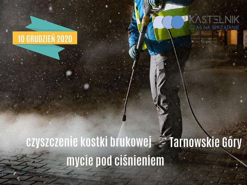 Mycie kostki brukowej w Tarnowskich Górach