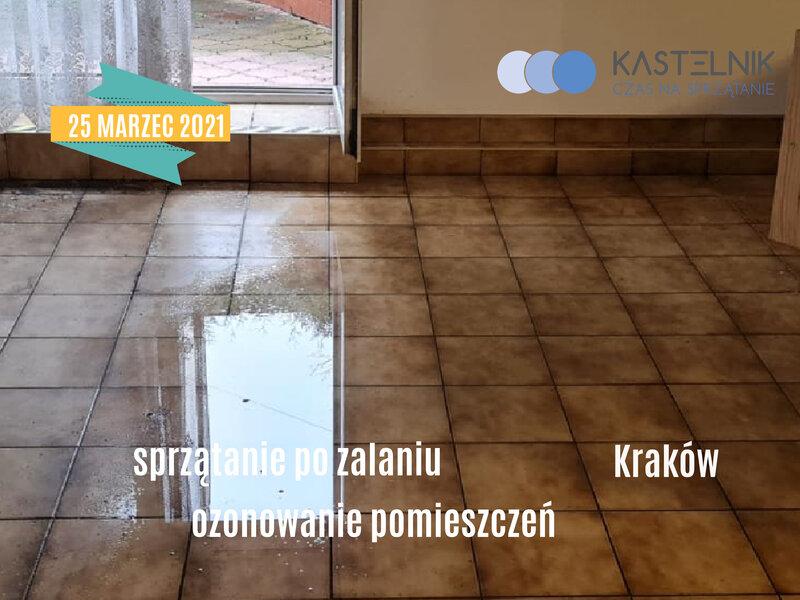 Sprzątanie po zalaniach Kraków