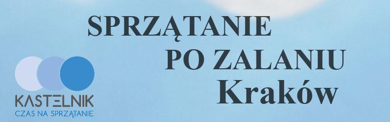 Czyszczenie po zalaniu w Krakowie