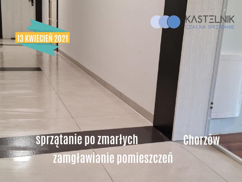 Sprzątanie po zgonie nastolatki w Chorzowie