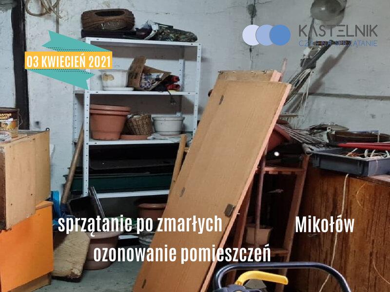 Czyszczenie po zgonie samobójcy w Mikołowie