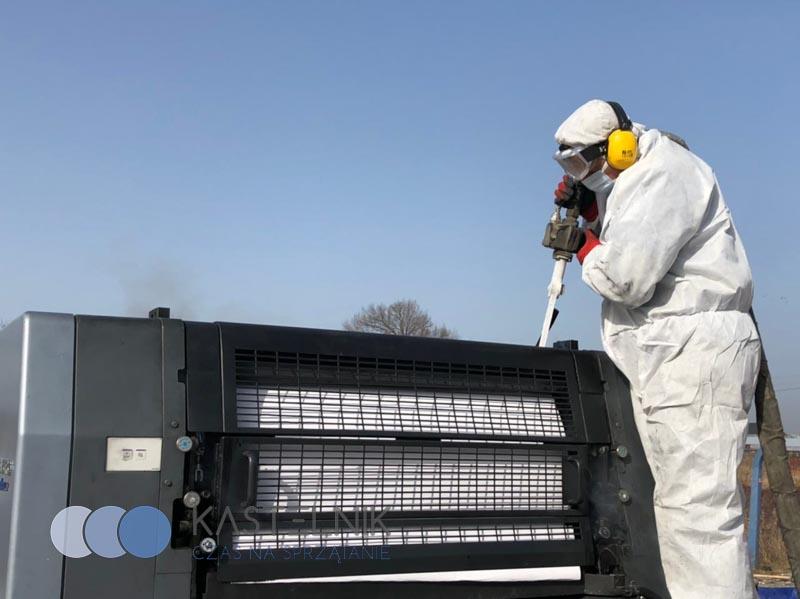 Czyszczenie maszyn produkcyjnych suchym lodem