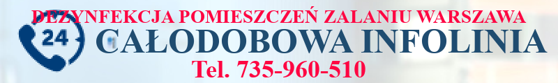 Dezynfekcja pomieszczeń po zalaniu Warszawa
